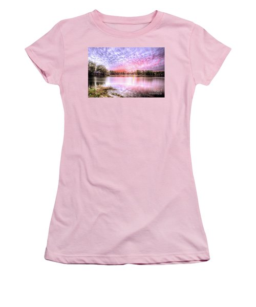Sunset On Flint Creek Women's T-Shirt (Junior Cut) by Maddalena McDonald