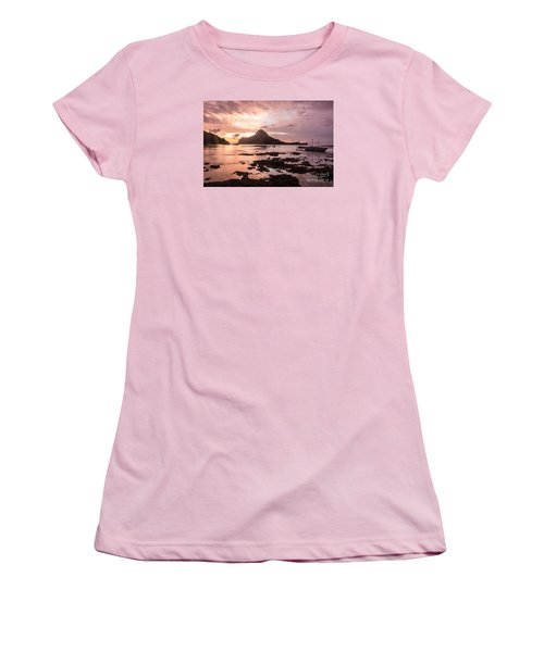 Sunset Over El Nido Bay In Palawan In The Philippines Women's T-Shirt (Athletic Fit)