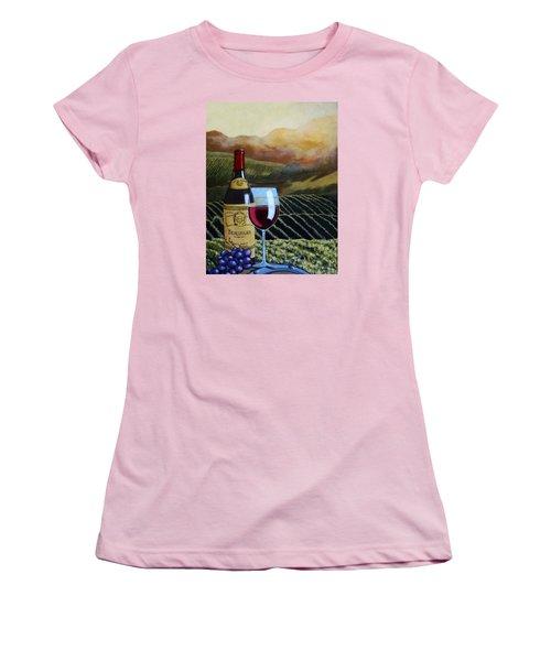 Sunset W/beaujolais Women's T-Shirt (Junior Cut) by Linda Apple