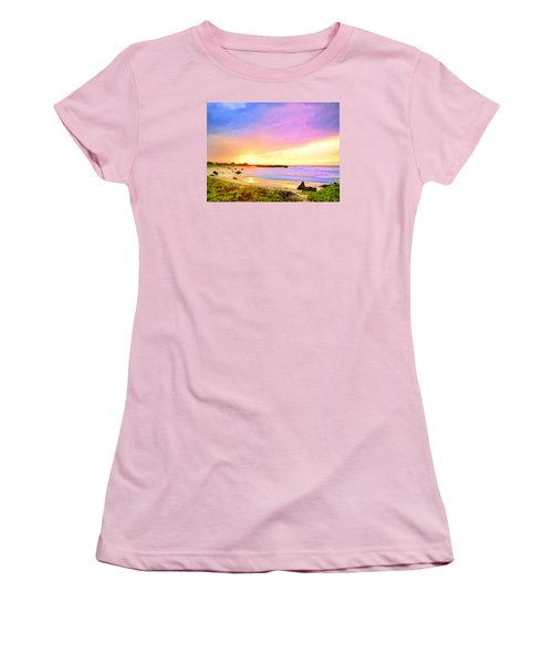 Sunset Walk Women's T-Shirt (Junior Cut) by Dominic Piperata