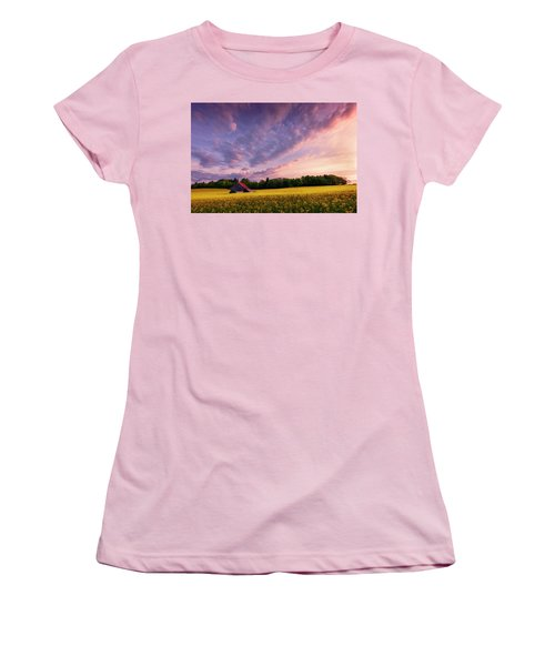 Surrounded Women's T-Shirt (Junior Cut) by Dominique Dubied
