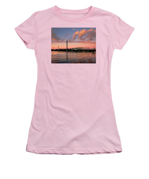 Swing Bridge At Sunset, Topsail Island, North Carolina Women's T-Shirt (Athletic Fit)