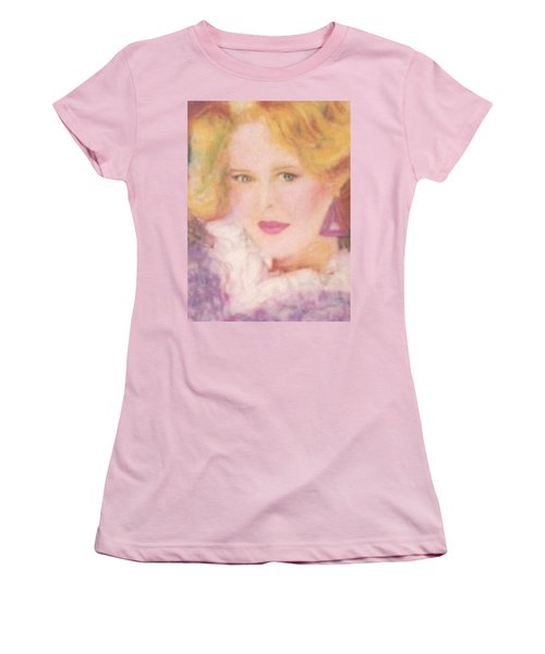 Women's T-Shirt (Junior Cut) featuring the drawing Sylvia by Denise Fulmer