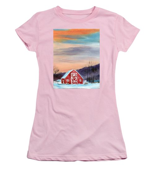 Target Range Barn Women's T-Shirt (Junior Cut) by Larry Hamilton