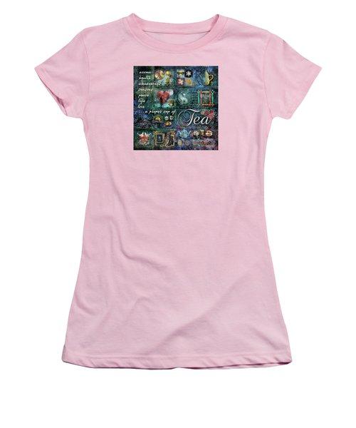 Tea Women's T-Shirt (Junior Cut) by Evie Cook