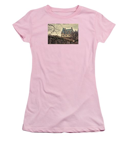 The Biltmore Mansion In The Fall Women's T-Shirt (Athletic Fit)