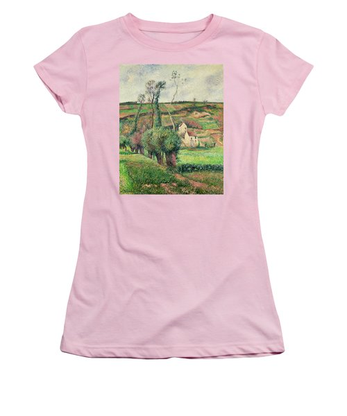 The Cabbage Slopes Women's T-Shirt (Junior Cut) by Camille Pissarro