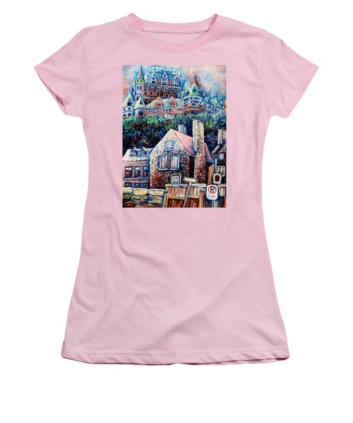 The Chateau Frontenac Women's T-Shirt (Athletic Fit)