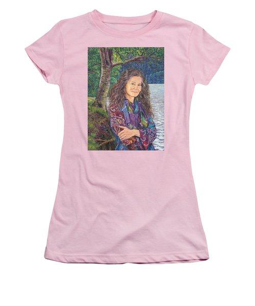 The Color Violet Women's T-Shirt (Athletic Fit)