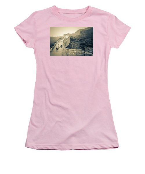Women's T-Shirt (Junior Cut) featuring the photograph The Great Wall Of China by Heiko Koehrer-Wagner