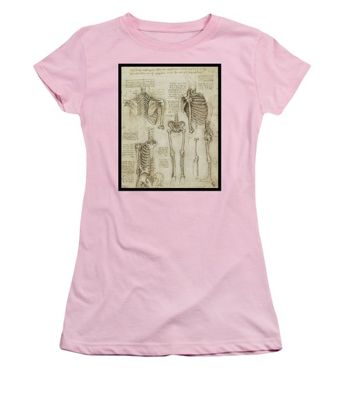 Women's T-Shirt (Junior Cut) featuring the painting The Human Ribcage by James Christopher Hill