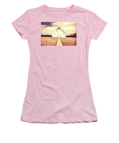 Women's T-Shirt (Junior Cut) featuring the photograph The Long Walk by Julie Hamilton