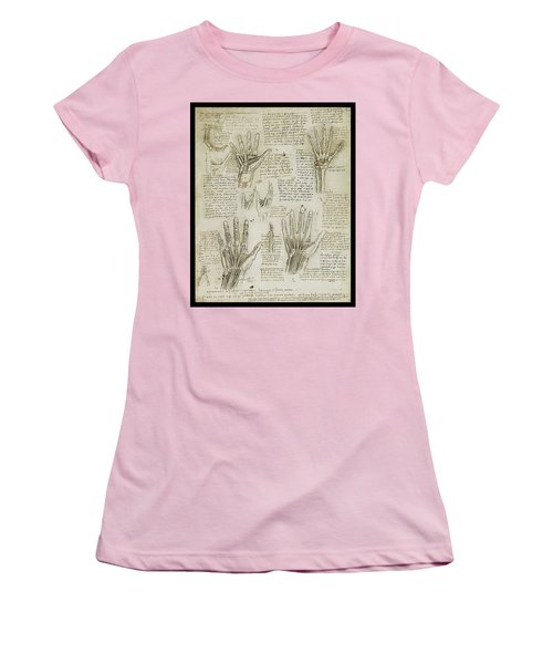 Women's T-Shirt (Junior Cut) featuring the painting The Metacarpal by James Christopher Hill