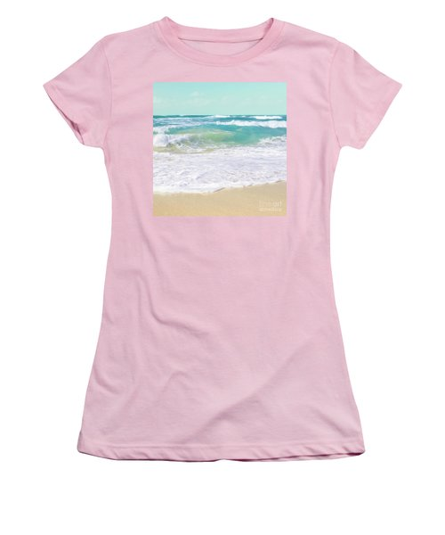 Women's T-Shirt (Athletic Fit) featuring the photograph The Ocean by Sharon Mau