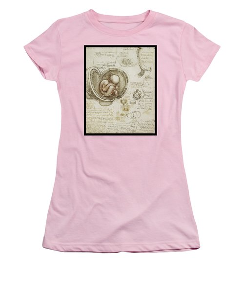 Women's T-Shirt (Junior Cut) featuring the painting The Womb And Embreyo  by James Christopher Hill