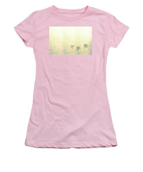 Three Palms In Color Women's T-Shirt (Athletic Fit)