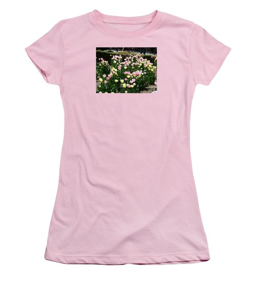 Tiptoe Through The Tulips Women's T-Shirt (Junior Cut) by Helen Haw