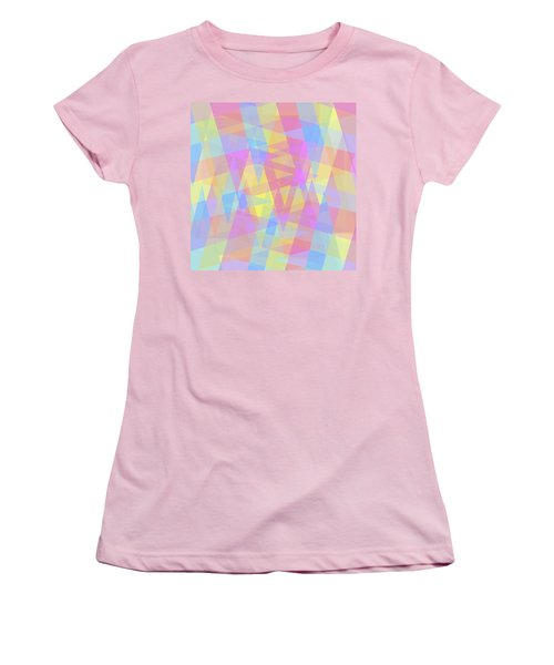 Triangle Jumble 2 Women's T-Shirt (Junior Cut) by Shawna Rowe