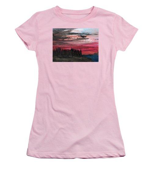 Twin Beech Late Women's T-Shirt (Junior Cut) by R Kyllo