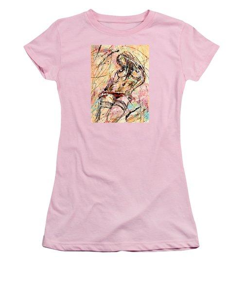Undressing Woman  Women's T-Shirt (Junior Cut) by Erika Pochybova