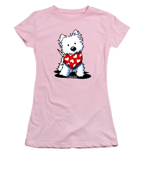 Valentine Westie Women's T-Shirt (Athletic Fit)