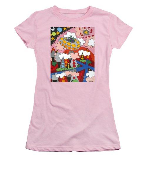 Voyager Women's T-Shirt (Junior Cut) by Rojax Art