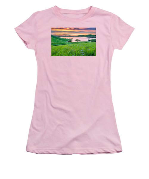 Women's T-Shirt (Junior Cut) featuring the photograph Wally Baskets Above Contra Loma  by Marc Crumpler