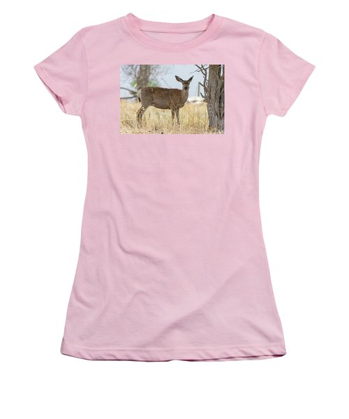 Watching From The Woods Women's T-Shirt (Junior Cut) by James BO Insogna
