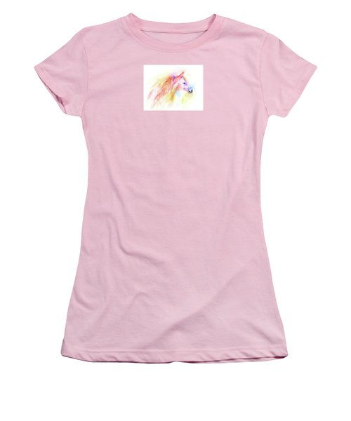 Women's T-Shirt (Junior Cut) featuring the painting Whisper by Elizabeth Lock