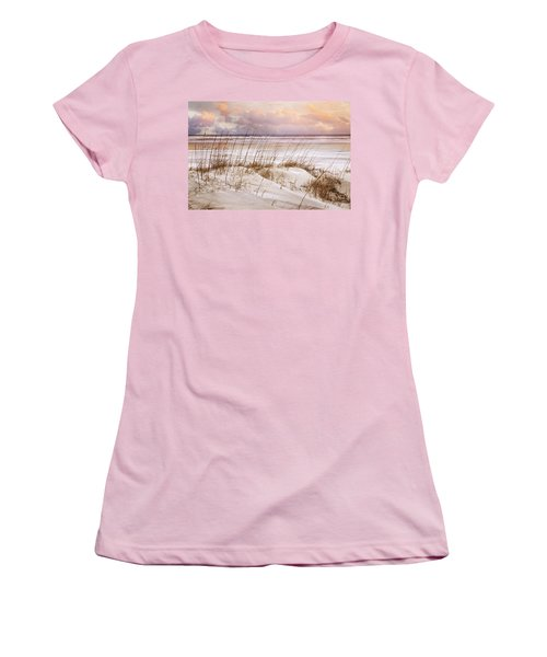 Women's T-Shirt (Junior Cut) featuring the photograph Whispers In The Dunes by Debra and Dave Vanderlaan