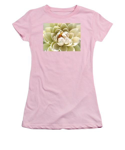 White Blooming Lotus Women's T-Shirt (Athletic Fit)