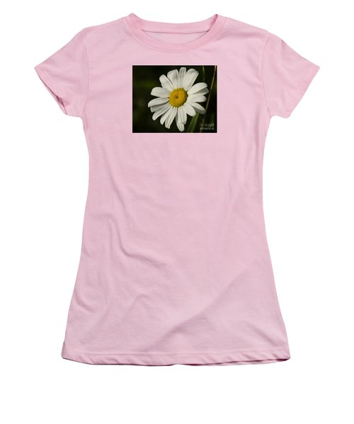 Women's T-Shirt (Junior Cut) featuring the photograph White Daisy Flower by JT Lewis