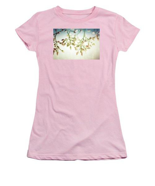 White Flowers Women's T-Shirt (Junior Cut) by Bobby Villapando