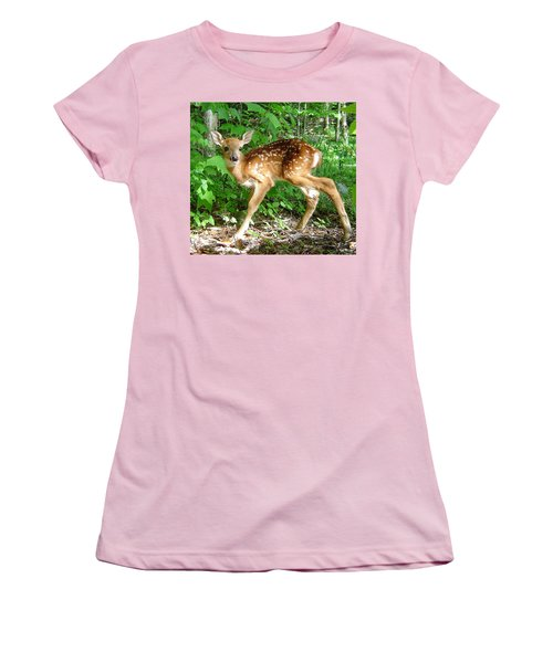 Whitetail Fawn Women's T-Shirt (Athletic Fit)