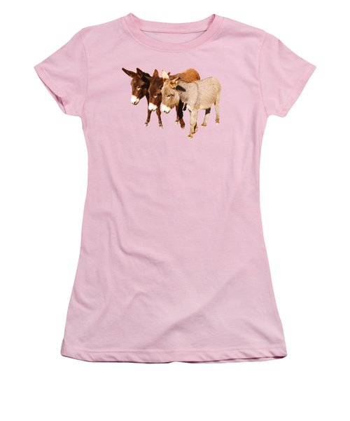 Wild Burro Buddies Women's T-Shirt (Junior Cut) by Sandra O'Toole