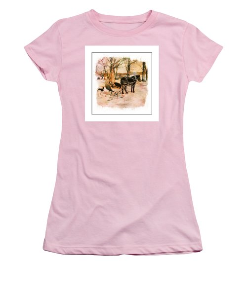 Winter Horse Sled Women's T-Shirt (Athletic Fit)