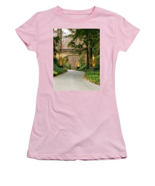 Women's T-Shirt (Junior Cut) featuring the photograph Winter In The Garden by Robin Regan