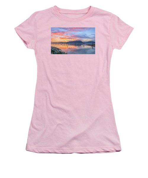 Winter Sky Woman In Peekskill Women's T-Shirt (Athletic Fit)
