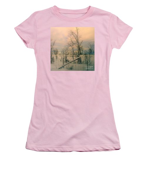 Winter's Face Women's T-Shirt (Junior Cut) by Elfriede Fulda