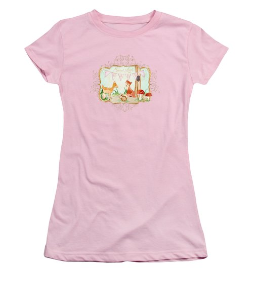 Woodland Fairytale - Banner Sweet Little Baby Women's T-Shirt (Athletic Fit)