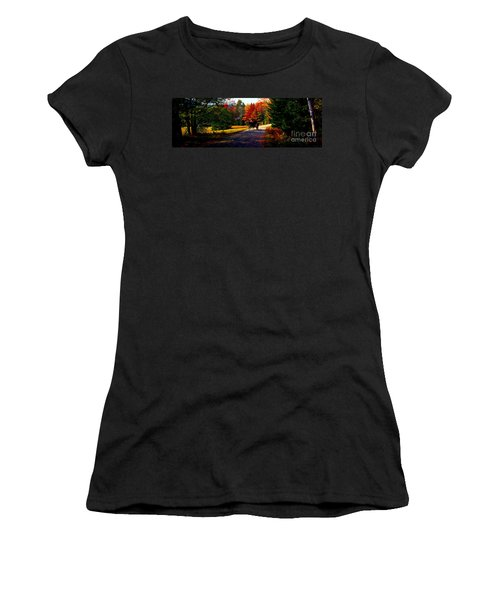 Acadia National Park Carriage Trail Fall  Women's T-Shirt (Athletic Fit)