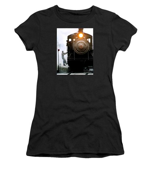 All Aboard The Number 40 At New Hope Pennsylvania Train Terminal Women's T-Shirt (Athletic Fit)