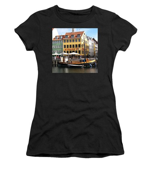Boat In Nyhavn Women's T-Shirt (Athletic Fit)