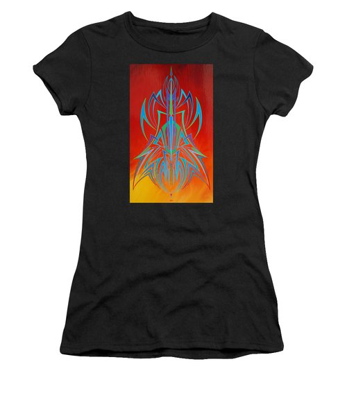 Desert Fire Storm Women's T-Shirt (Athletic Fit)