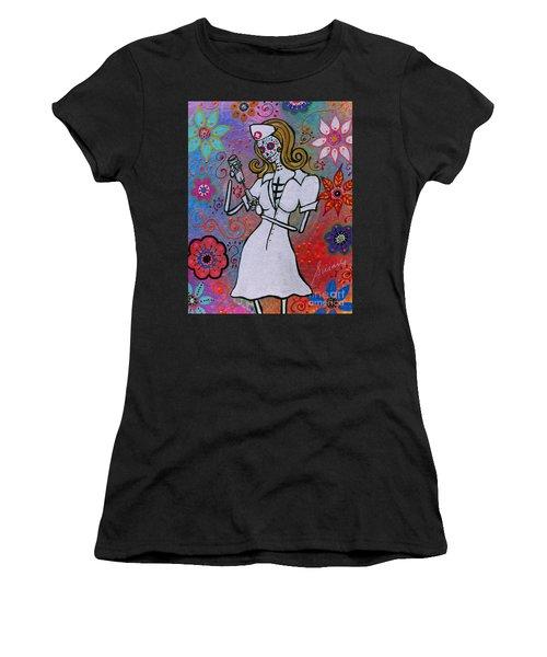 Dia De Los Muertos Nurse Women's T-Shirt
