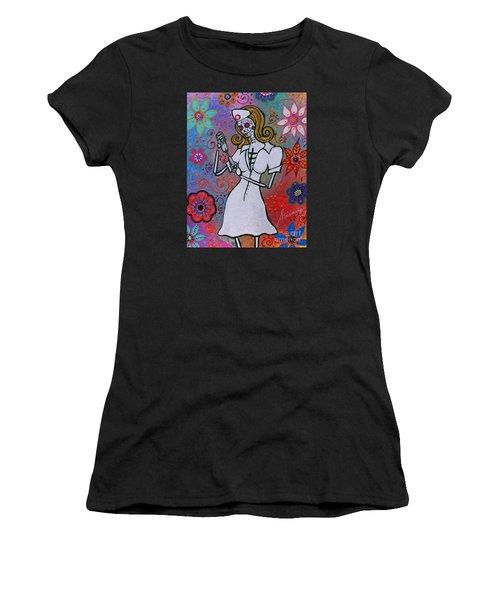 Dia De Los Muertos Nurse Women's T-Shirt (Athletic Fit)