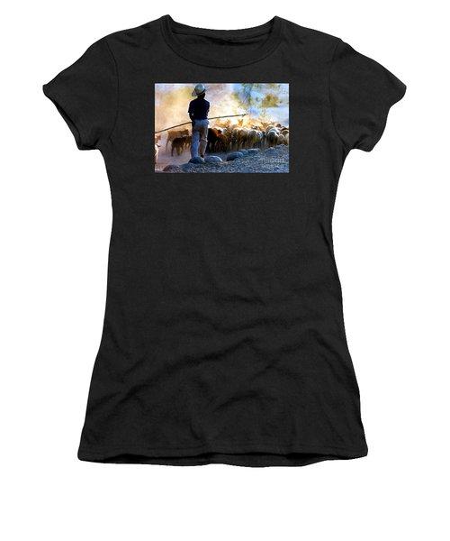 Herder Going Home In Mexico Women's T-Shirt (Junior Cut) by Phyllis Kaltenbach