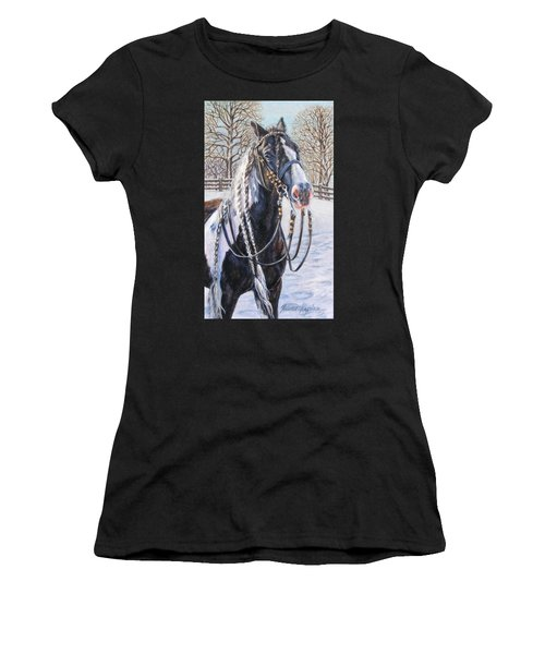 I'm Ready For The Ribbons Gypsy Vanner Horse Women's T-Shirt
