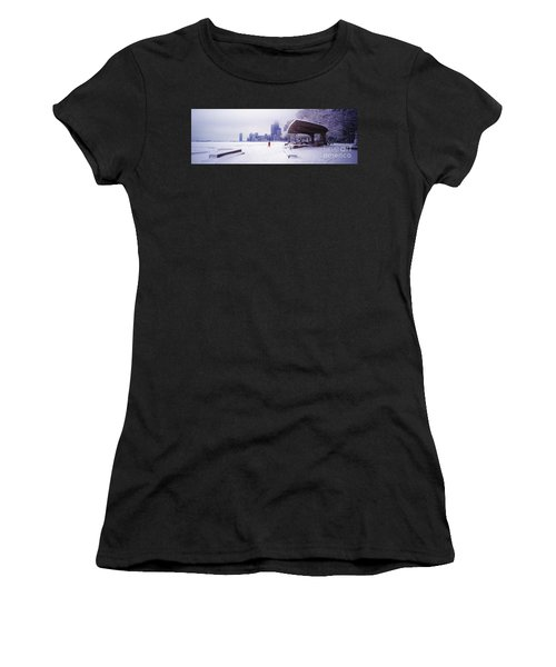 North Ave Beach Chess Palv Chicago Lake Front  Women's T-Shirt