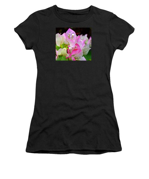 Pink  Bougainvillea ...with A Friend Women's T-Shirt (Athletic Fit)